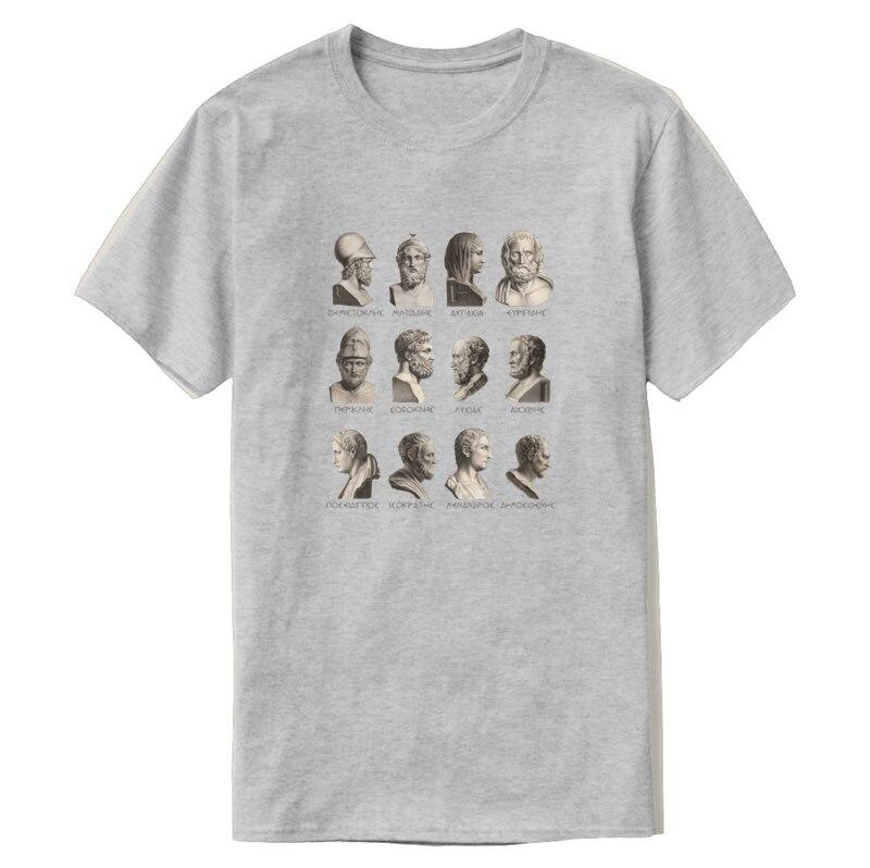 Gráfico de antiguos filósofos griegos políticos poetas Camiseta Hombre carta verano Mens T camisa humorística de manga corta Hiphop
