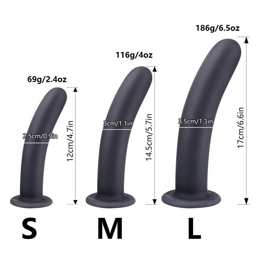 Анальный фаллоимитатор, пробка, массажер простаты, секс-игрушка для женщин, Мужской пенис с присоской, секс-магазин, страпон, бусины