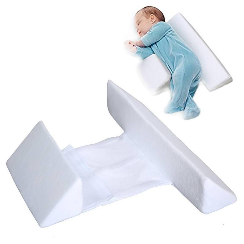 Newborn Baby Sleep Pillow Adjustable Support Infant Positioner Prevent Flat Head Shape Anti Roll Side sleepeer Pro Pillow USA