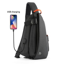 MOYYI USB Charge poitrine sacs hommes poitrine taille Pack antivol voyage bandoulière sacs pour hommes sacs à bandoulière 2019