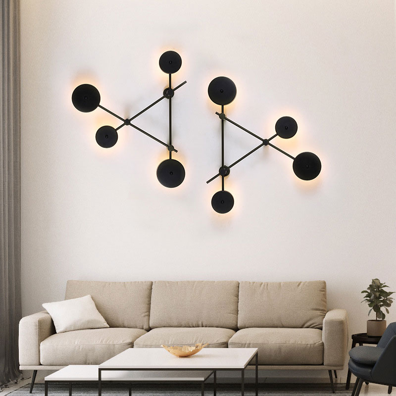 Nordic Modern LED Wall Light Master Bedroom Aisle Staircase Living Room Background Wall Light Wall Lamps for Living Room