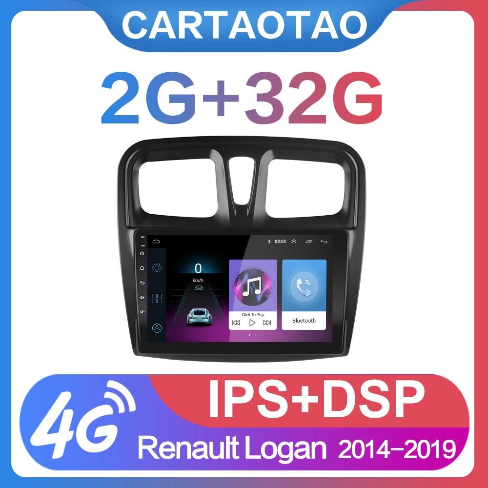 """2G + 32G 9 """"2din Android 8.1 GO samochód Radio odtwarzacz dvd dla renault logan Sandero Symbol 2014-2019 radia samochodowego GPS WIFI IPS odtwarzacz"""