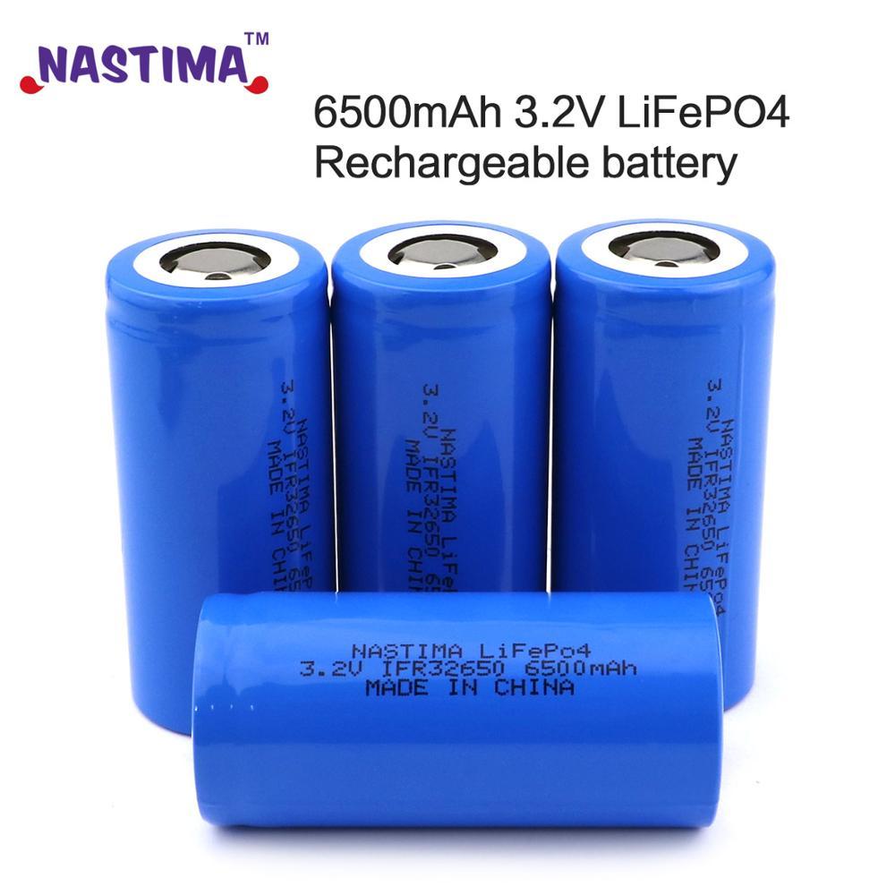 Nastima 4 шт. Lifepo4 32650 32700 3,2 V 6500mAh аккумуляторная батарея с плоским верхом для резервного питания фонарик Электрический автомобиль UPS