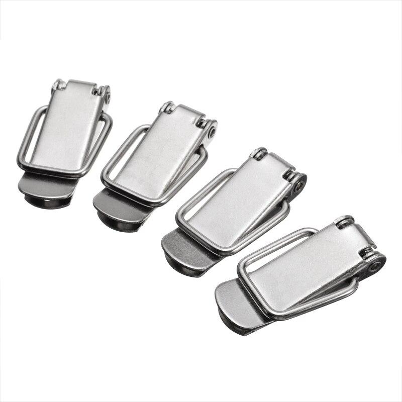 4 Uds. Abrazadera de cierre Clip de resorte cerrojo caja de cierre caja de gabinete cerraduras cerrojo para puerta para muebles y ventanas ferretería