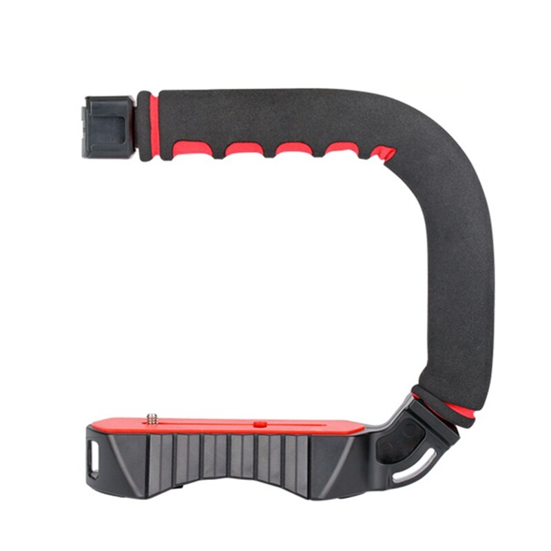 Hot Ulanzi U-Grip Triple Cold Shoe Mount Stabilizer Handle Grip Rig Photo Studio Set With Microphone For Dslr Nikon Canon Smartp