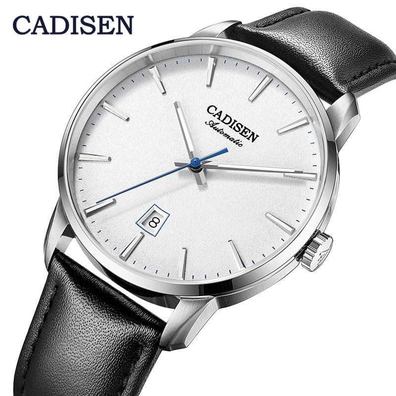 Reloj CADISEN para hombre 2020, marca de lujo, relojes de pulsera luminosos de acero inoxidable para hombres de negocios, relojes de pulsera mecánicos automáticos NH35A Japan Movt