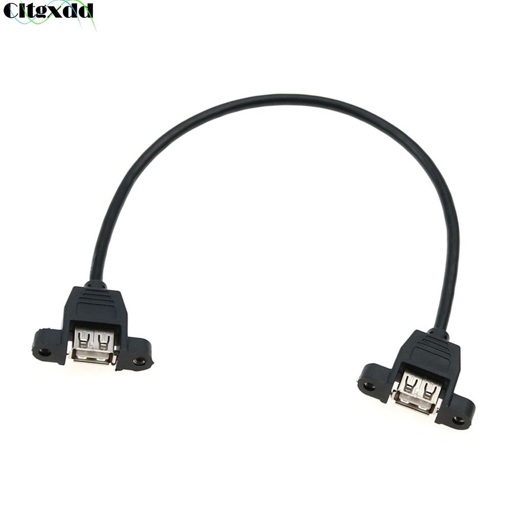 Cable de extensión de hembra a hembra Cltgxdd USB 2,0 con Tornillo...