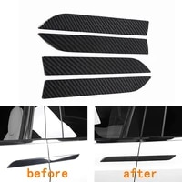 4pcs car outer door pull handle panel carbon fiber decoration cover for tesla model x 2014 2020 car exterior door knob trim kit