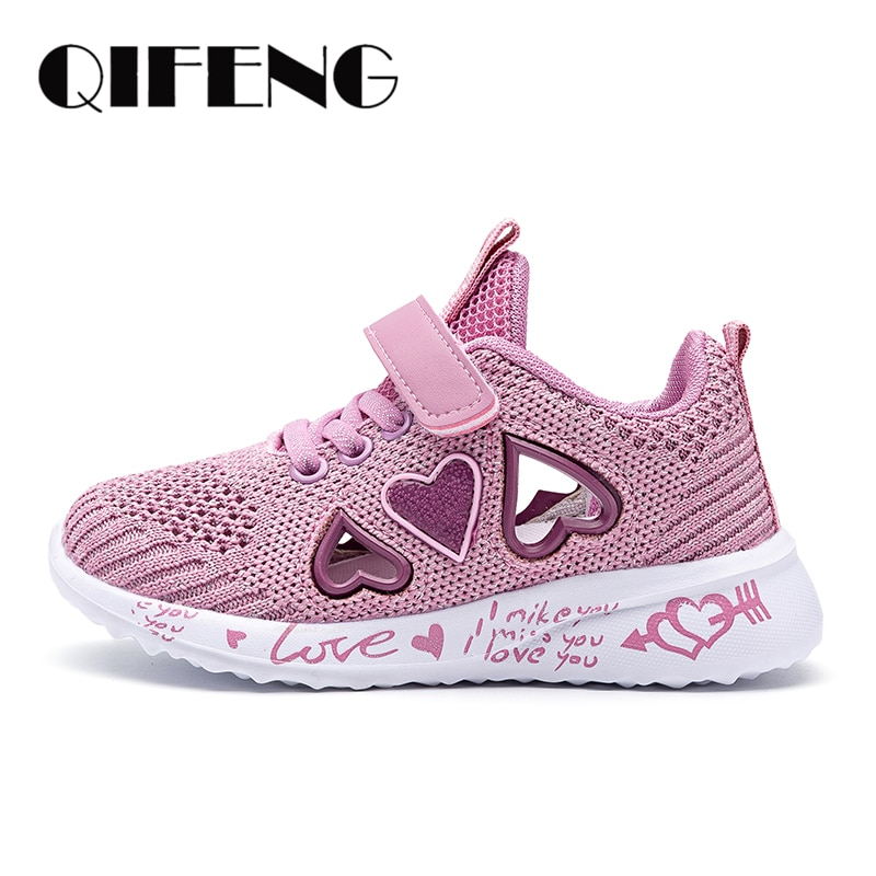 2021 Girls Casual Shoes Light Mesh Sneakers Kids Summer Children Fashion Tenis Cute Sport Cartoon Female Running Sock Footwear