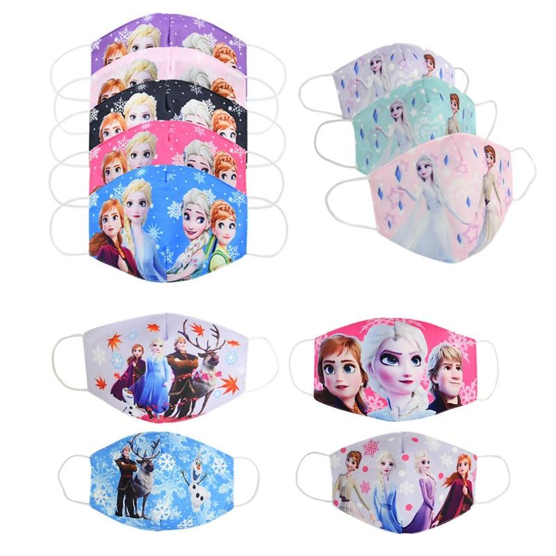 Детская моющаяся маска для лица Disney Frozen 2 Elsa Anna Olaf из хлопка с защитой от пыли для мальчиков и девочек