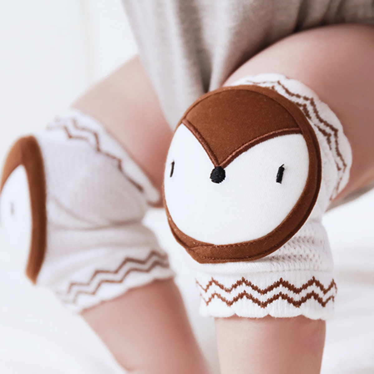 Cartoon Animal Baby Knee Pads Crawling Kids Summer Breathable Baby Leg Warmers Knitted Infant Toddler Knee Protector Beenwarmers leg warmers women warm knee kneepad slim knee protector room outdoor breathable thermal knee pads to keep warm