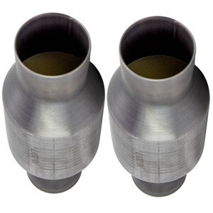 MAXPEEDINGRODS 2.5 inch High Performance Spun Body Catalytic Converter 410250 Stainless Steel
