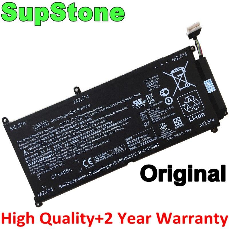 SupStone الأصلي LP03XL بطارية ل HP الحسد 15-AE020TX AE015TX TPN-C121 C122 C124 807417-005 807211-121 HSTNN-DB6X DB7C UB6R