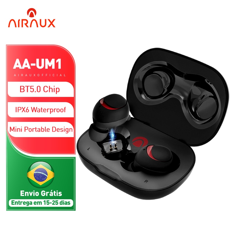 Blitzwolf AIRAUX UM1 سماعات بلوتوث متوافقة سماعات رأس لاسلكية HiFi الحد من الضوضاء IPX6 سماعات رياضية مضادة للماء هيئة التصنيع العسكري