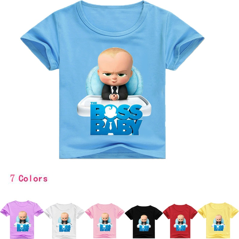 2-16Y ropa de bebé de moda Boss camisetas para niñas Top Niño de dibujos animados Camiseta de manga corta niños ropa de verano Nova