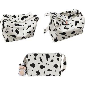 Women Girls Cartoon Cow Print Shoulder Crossbody Bag Tote Satchel Phone Purse H8WD