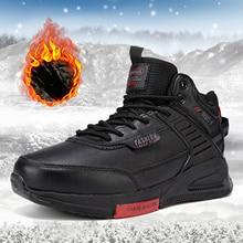 Baasploa Winter Shoes Men Cotton Shoes 2021 Waterproof Comfortable Casual Sneaker Non-slip Shock-abs