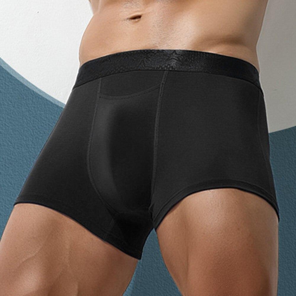 Трусы-боксеры мужские Бесшовные, шорты для сна, пикантное нижнее белье, дышащие трусы для гомосексуалистов