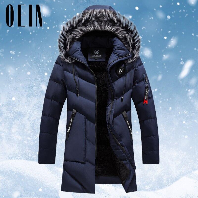 2021 Winter Long Parkas Men Cotton Padded Brand Clothing Fashion Casual Thick Warm Men's Coats Fur H