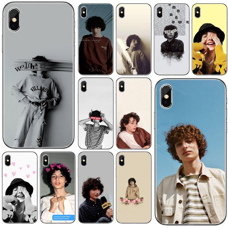 TV Finn Wolfhard Stranger Dingen Cover Zachte Siliconen TPU Telefoon Case Voor iPhone 5 5S SE 6 7 8 plus X XS XR XS Max 11 Pro Max
