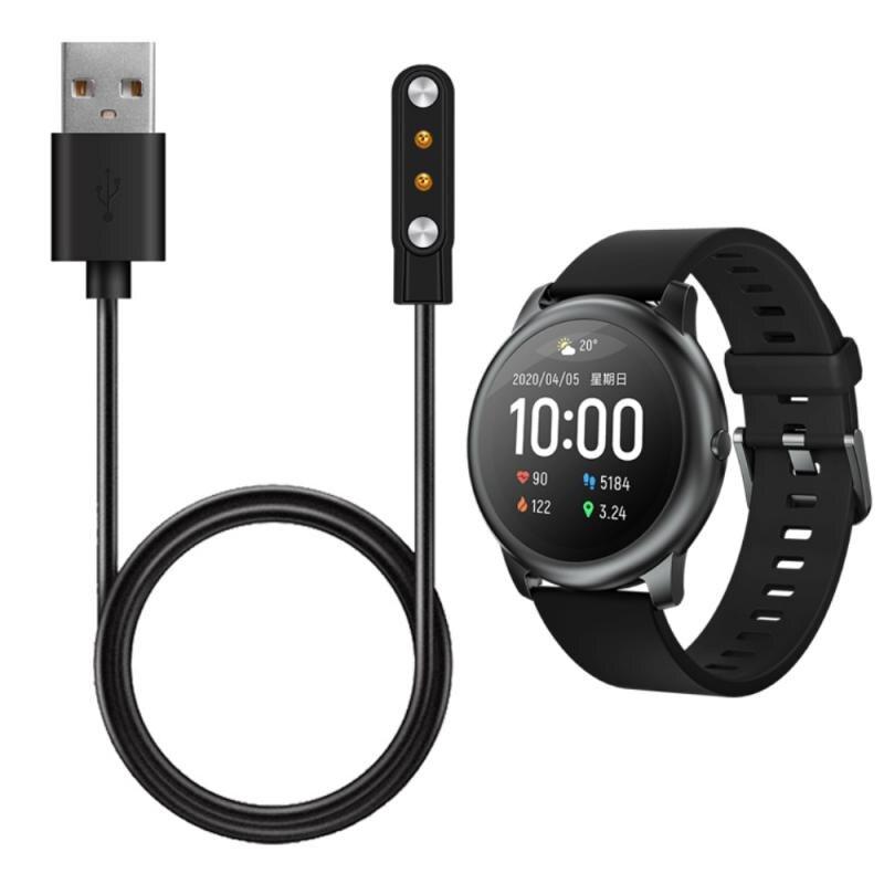 Cargadores USB para XiaoMi Haylou Solar LS05 LS02 LS01 Accesorios inteligentes Cable de pulsera de carga para adaptador de cargador Solar Haylou