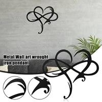 Decor mural en acier en forme de coeur infini  signe damour en metal  pour decoration de maison  decoration de mariage E7