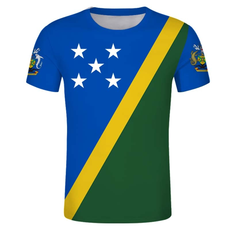 Camiseta de las Islas Salomón, camisetas masculinas personalizadas de verano, camisetas con emblema Honiara, camisetas con Diseño de país SB personalizada