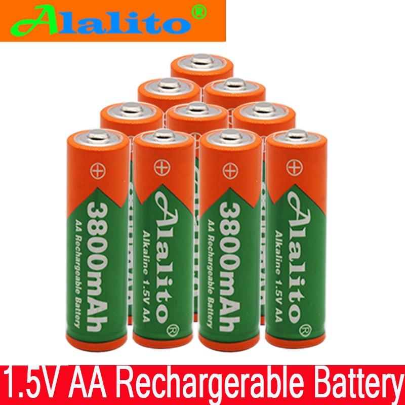 2019 New AA battery 3800 1.5 v Rechargeable battery AA 3000mAh Alkaline1.5V Rechargeable Battery For Clock Toys Camera battery