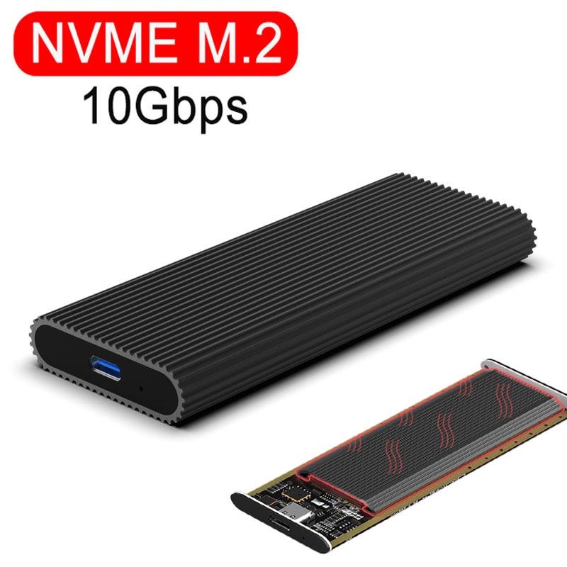 Carcasa NVME m2 ssd Puerto tipo c USB 3,1 SDD carcasa 10Gbps NGFF SATA 6Gbps transmisión Disco Duro carcasa HDD