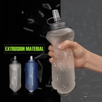 outdoor camping bottle tpu soft folding water bottles collapsible hydration bag for cycling climbing workout camping accessory