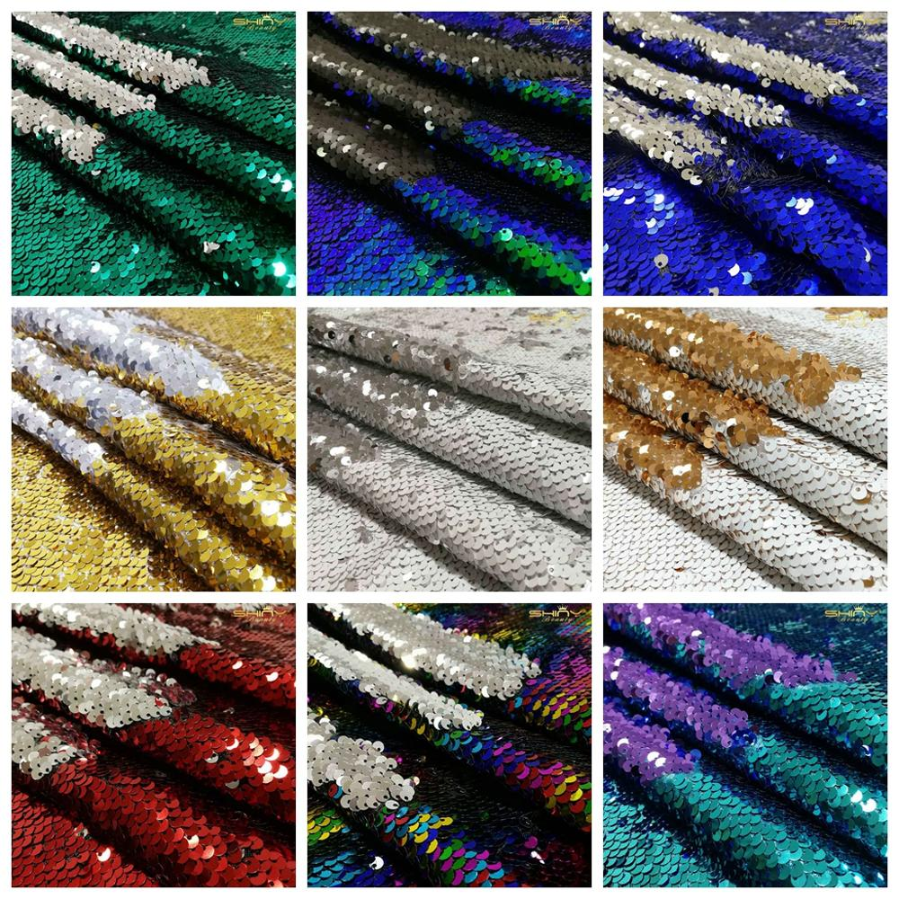 Блестящая Красивая Золотая/черная/Розовая реверсивная блестящая ткань для платья/скатерти/бегун/свадебное украшение/фоновый материал 0.5Y-C