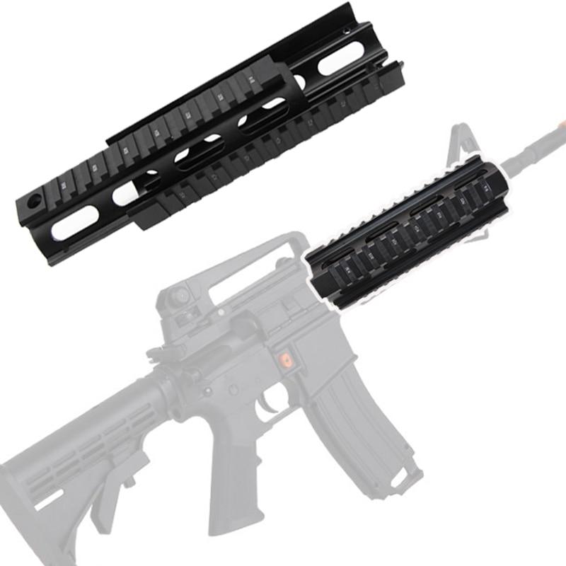 6,7 inc тактическая охотничья AR-15, рукоятка M4, винтовка, карабин, рис, Quad Rail, 2 шт., съемка, снаряжение, монтажная винтовка, аксессуары