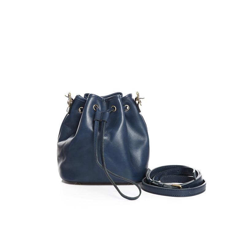 حقيبة بدلو صغيرة مصنوعة يدويًا من الجلد الأصلي لعام 2020 ، حقائب كروس بجودة عالية