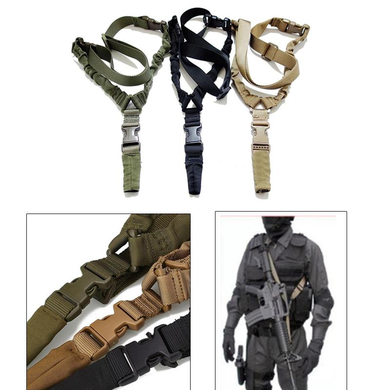 Magorui Heavy Duty Tactical One Single Point Sling Adjustable Bungee Rifle Gun Sling Strap magorui heavy duty tactical one single point sling adjustable bungee rifle gun sling strap
