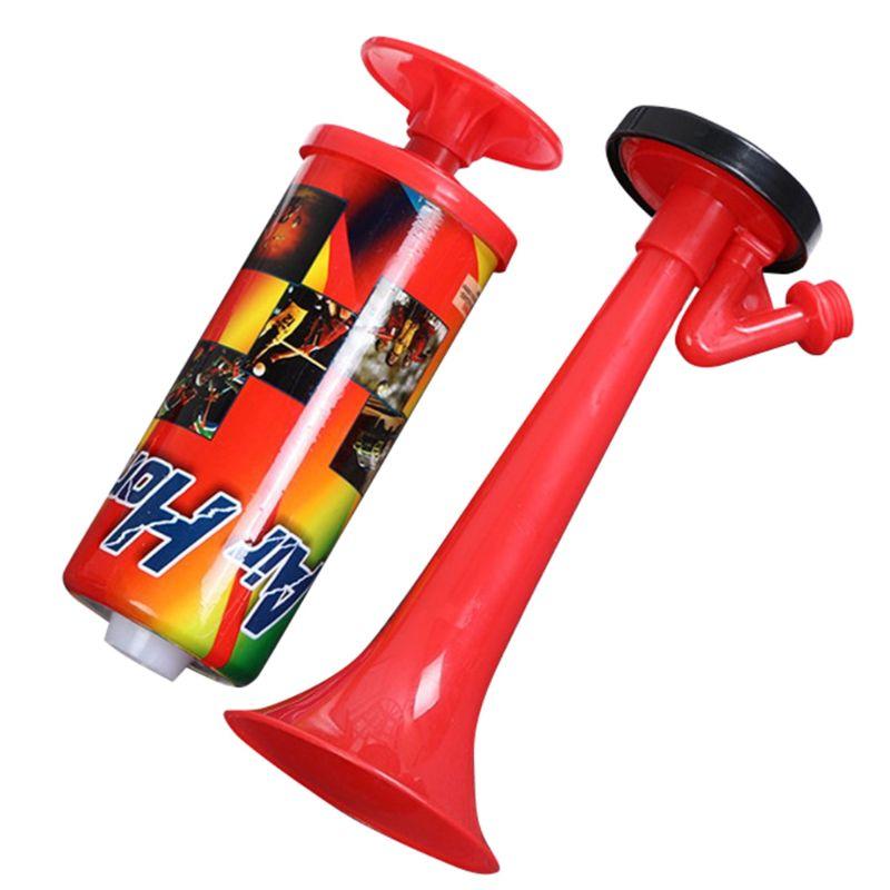 Hand Push Air Blower Cheerleading Horn Sport Meeting Cheer Club Trumpet Kids Toy W91C