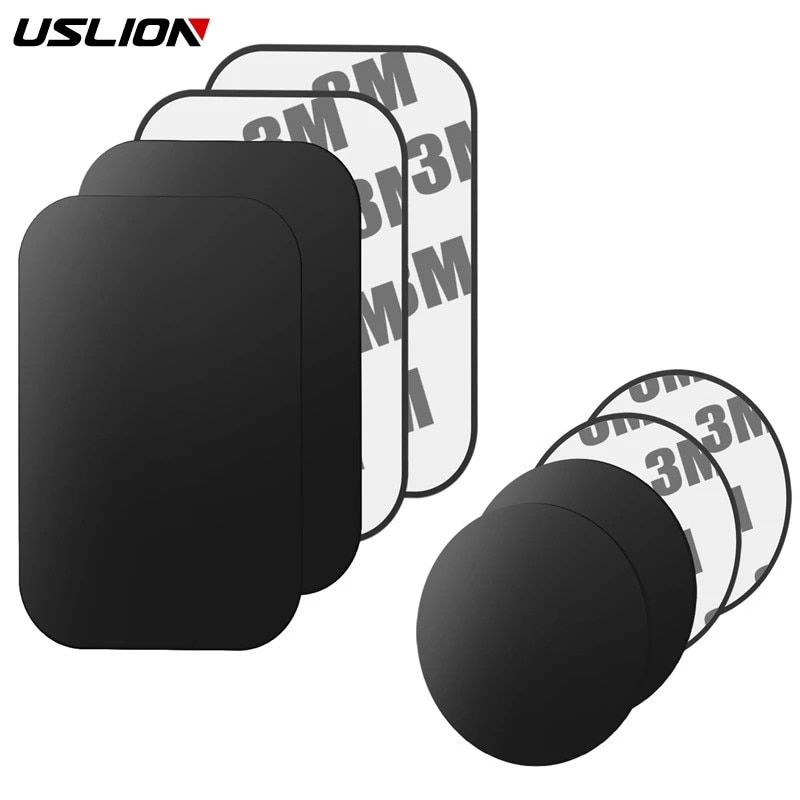 USLION Magnetic Metal Plate For Magnetic Car Phone Holder Universal Iron Sheet Sticker Stand Mobile