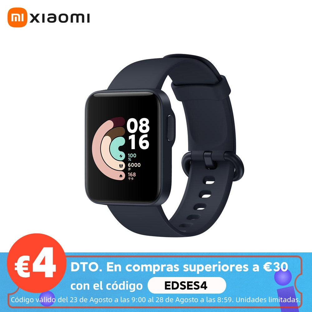 Xiaomi-reloj inteligente Mi Watch Lite, deportivo de pulsera resistente al agua 5ATM con GPS y Bluetooth, Monitor de ritmo cardíaco y Fitness, versión Global