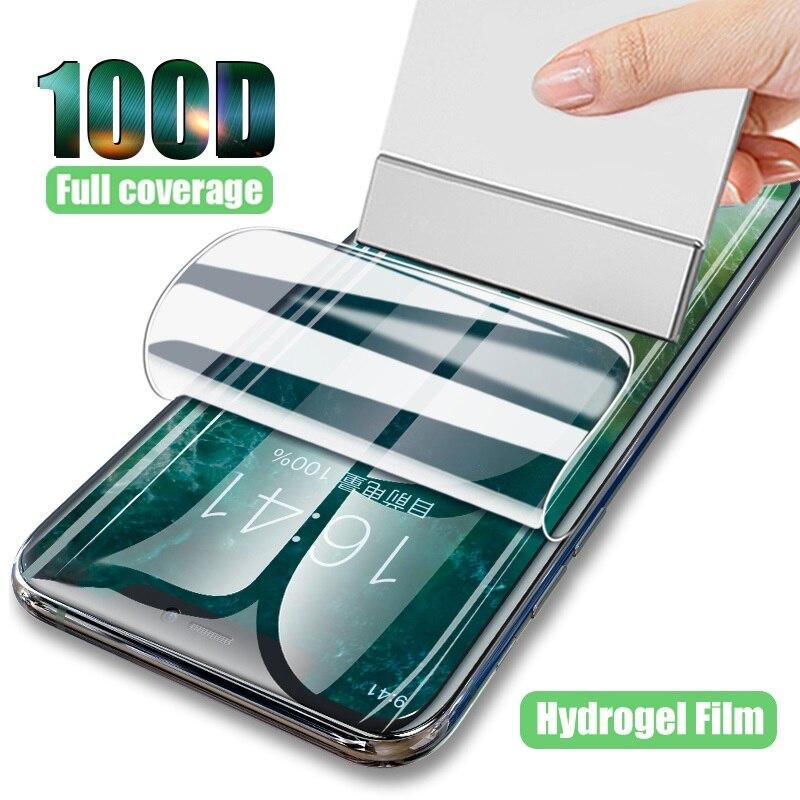 Гидрогелевая пленка для Oppo Realme C11 C12 C17 C3 C2S, Защитная пленка для экрана HD Защитные стёкла и плёнки      АлиЭкспресс