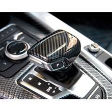 Coche palanca cubierta collares de cambio de marchas de coche traje para Audi A4 B9 S4 RS4 A6 C8 S6 RS6 A7 S7 RS7 A5 S5 RS5 Q5 SQ5 RSQ5 Q7 SQ7 RSQ7
