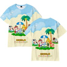 Animal croisement t-shirt 3D été garçon/hauts pour filles garniture unisexe t-shirt Tom Nook Animal croisement illustration imprimé t-shirt hommes t-shirt 110-4XL