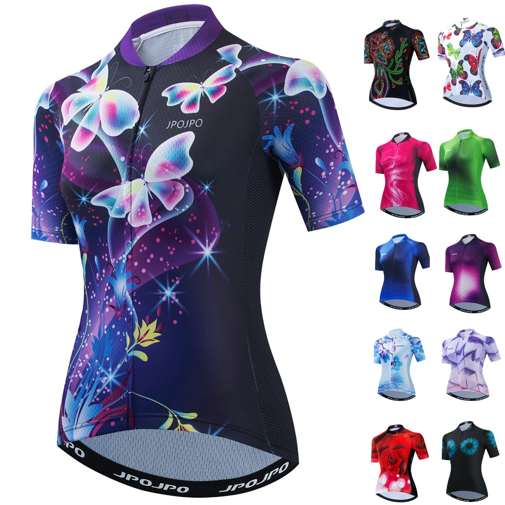 Maillot de Ciclismo de manga corta para Mujer, ropa de verano para...