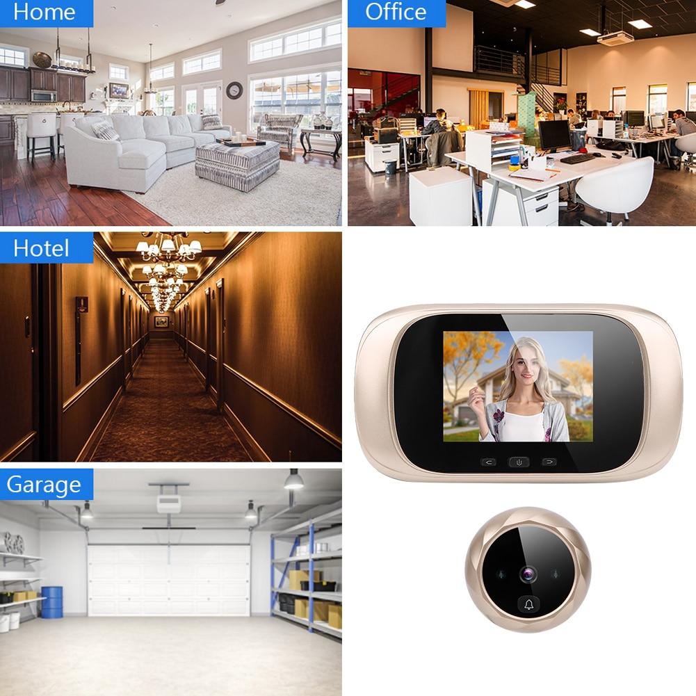 Night Vision Doorbell  Video Intercom 2.8in TFT Visual LCD  Door Viewer IR Night Cyclic Storage Camera Doorbell Ding Dong enlarge