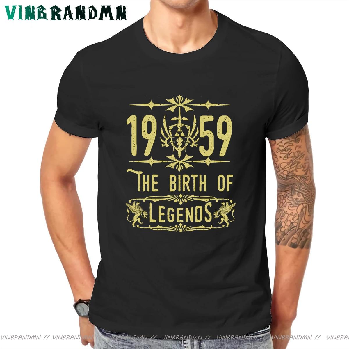 Camisetas de The birth of Legends para Hombre, Camiseta Vintage 1959 hecha...