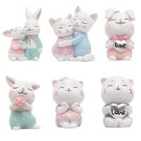 Menage creatif ornements doux decoration de la maison-petit chat decoration de la maison accessoires dessin anime chat gateau Topper decoration