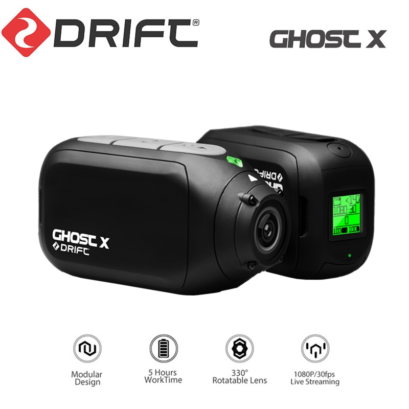 Drift Ghost X Action Camera Sports Ambarella A12 DVR 1080p Full Hd Wifi App Outdoor Motorcycle Mount