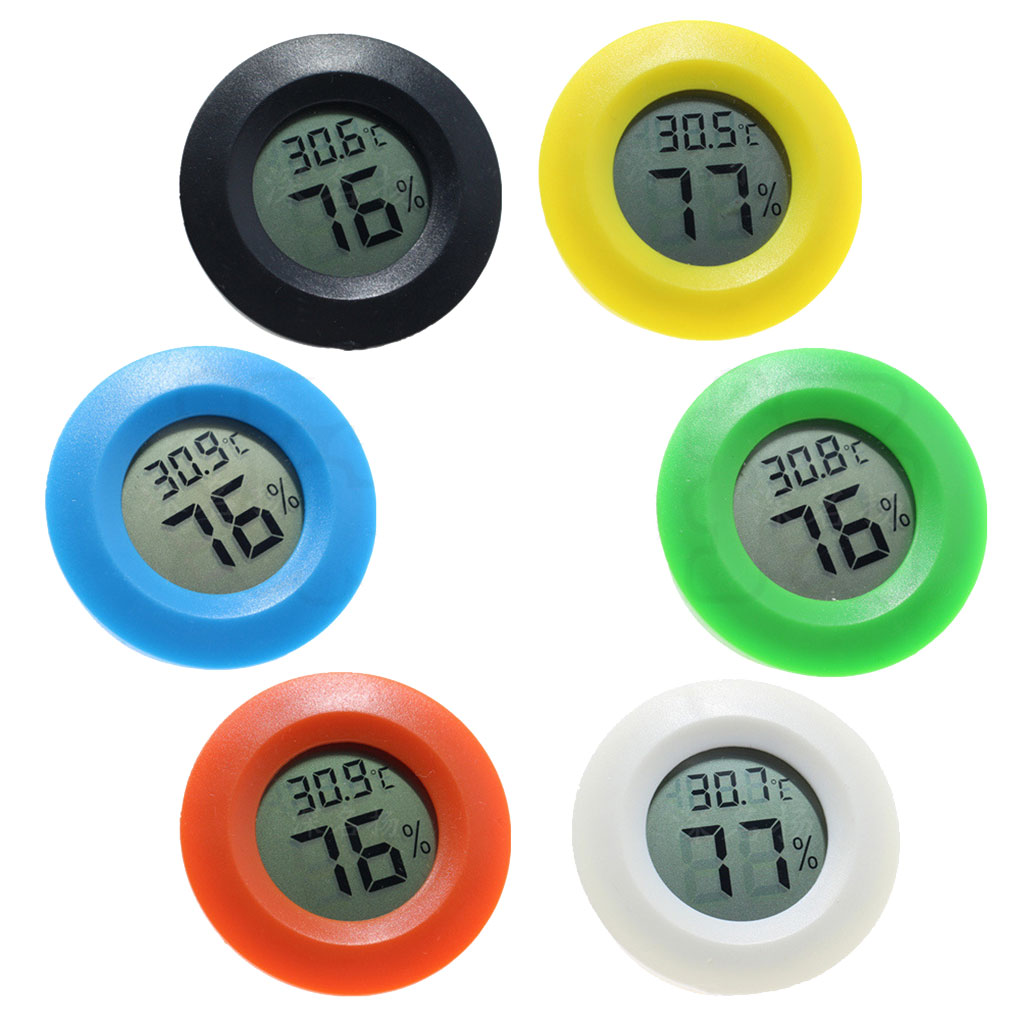 Mini LCD Thermometer Hygrometer Practical Digital Indoor Round Thermometer Hygrometer LCD Display Temperature Humidity Meter