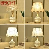 bright crystal desk lamp dimmer remote control bedside for home luxury modern creative table light wedding room