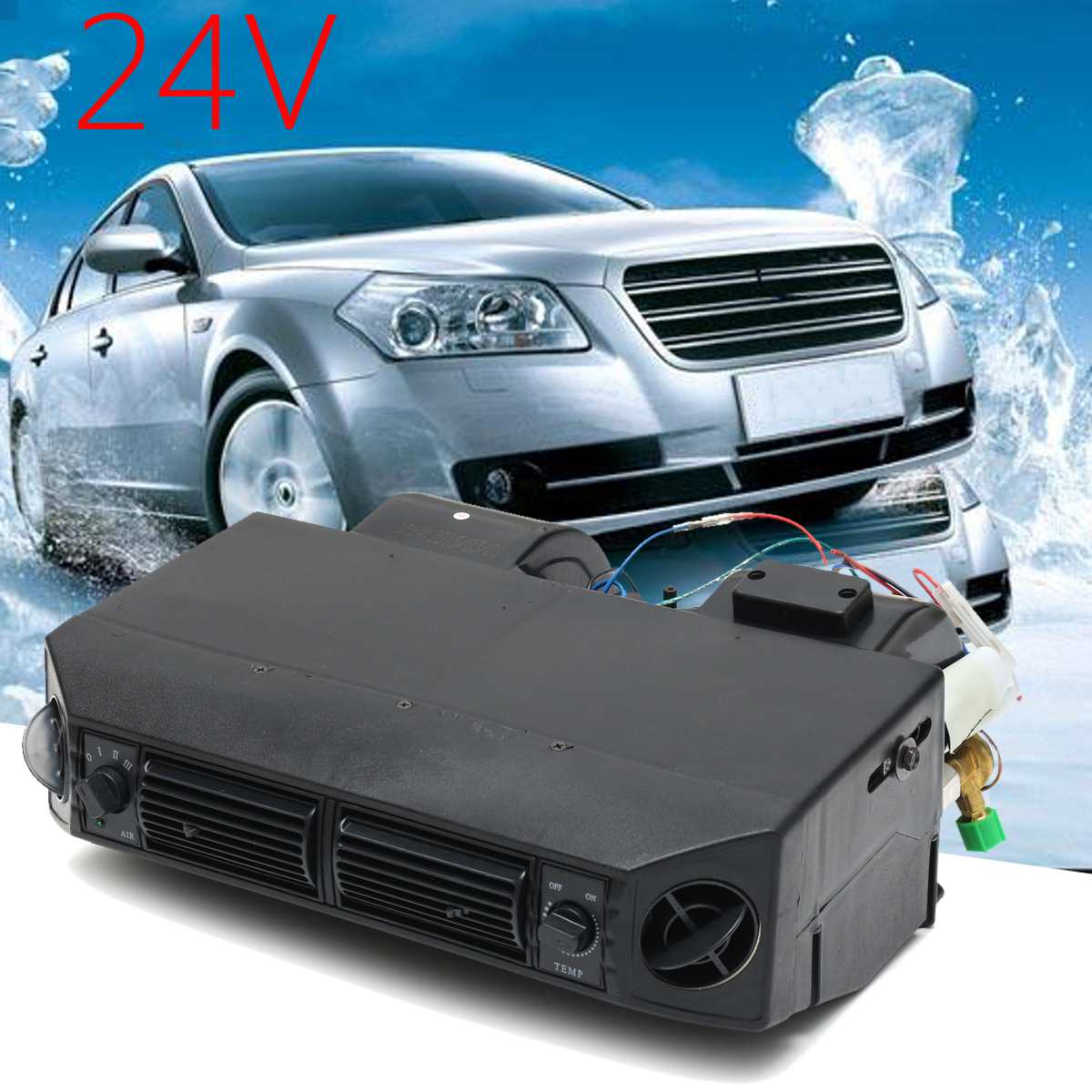 Condicionador de ar universal 24 volts ac evaporador unidade de montagem para o músculo clássico vintage caminhão carro trator van captador