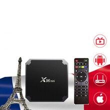 Caja de IPTV X96 mini TV Box Android 9,0 2G 16G NEOTV Pro árabe Bélgica Holanda inteligente descodificador NEO tv PRO no app incluido