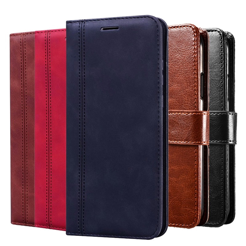 Wallet Case For UMIDIGI A7S Flip Screen Protector Coque Cover For UMIDIGI A 7S Magnetic Leather Case